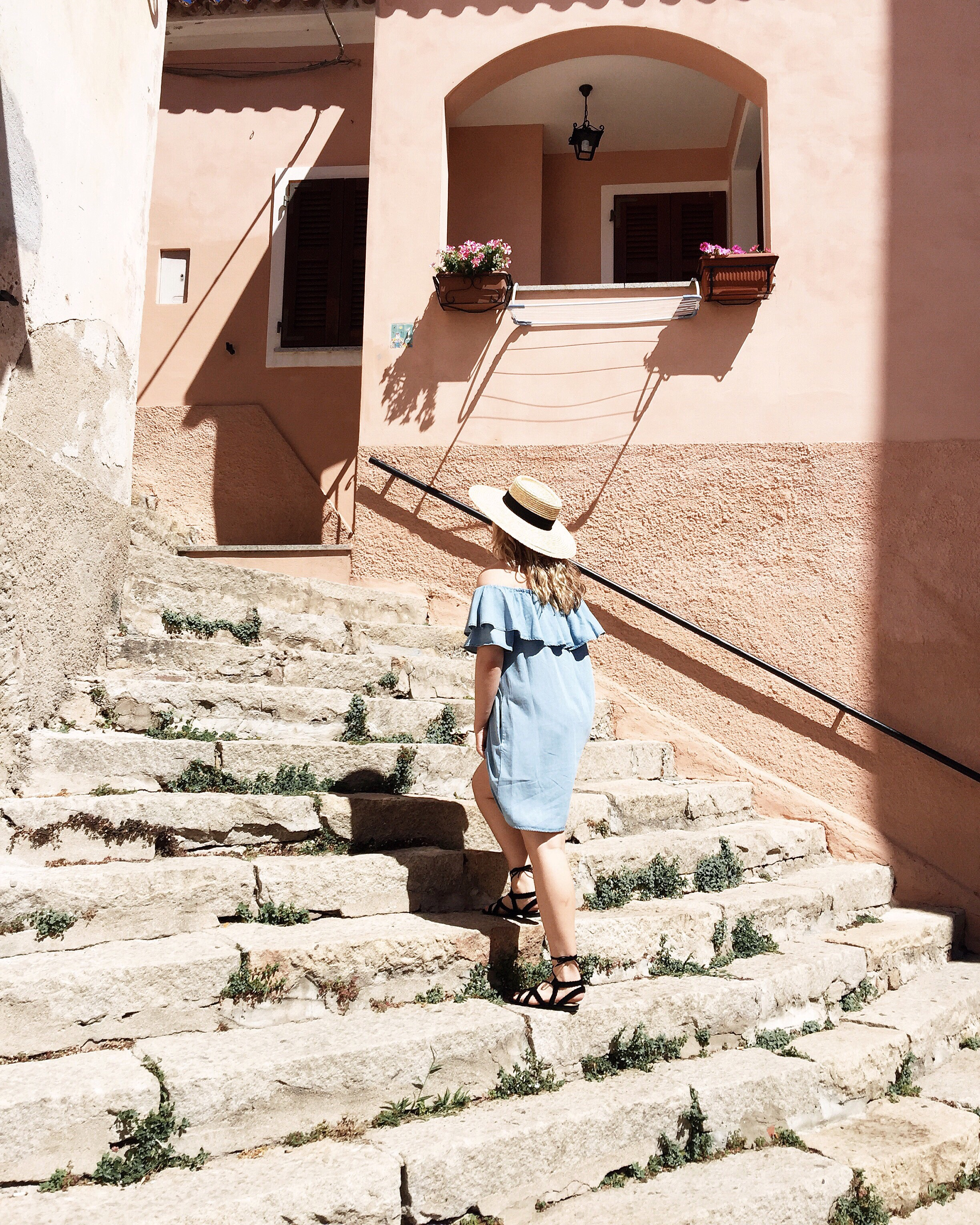 here is me walking up some stairs