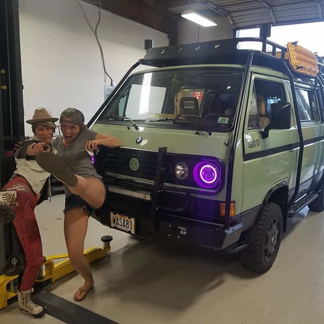 @alohawasabi was in for a few days to get a transmission install and a few other fixes before heading off to Syncro Solstice. #vanlife #vanagonlife #westylife #syncrolife