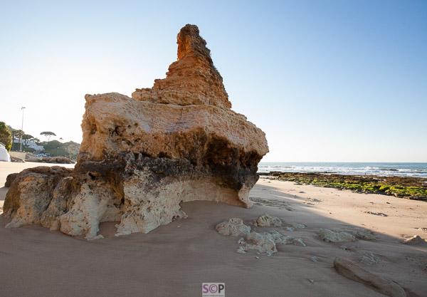 rocks in early morning sun portugal