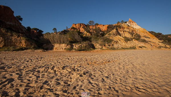 beach and rock formation