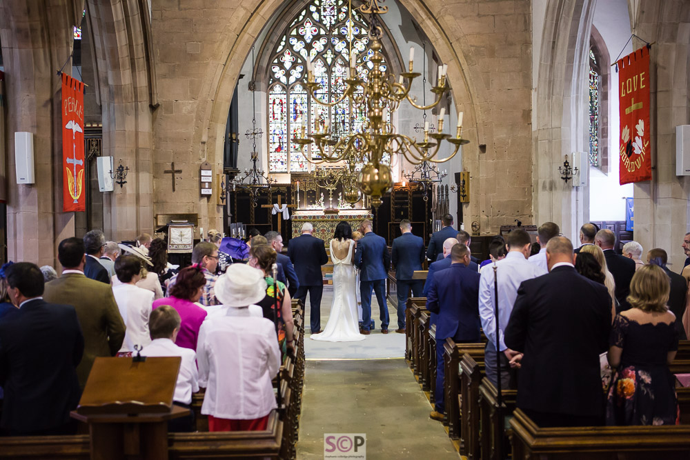st marks church billion rugby during wedding service