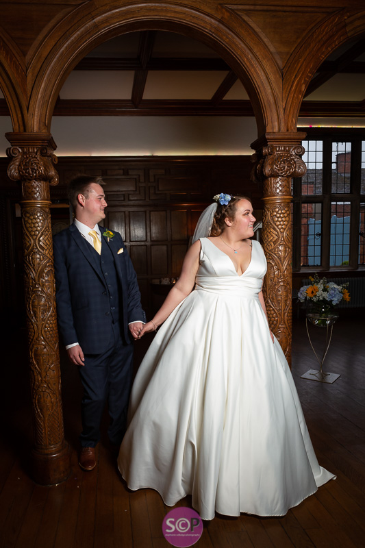 bride and groom at pendrell hall