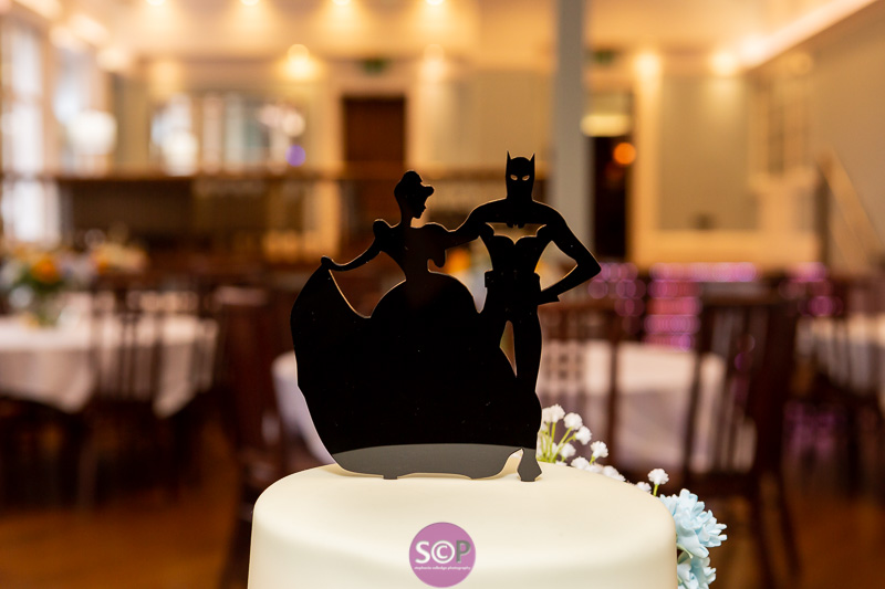 batman meets cinderella wedding cake topper