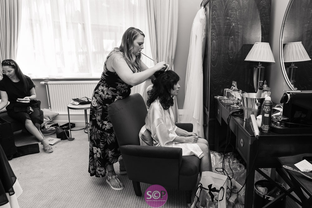 bridal preparation at the iliffe hotel coventry