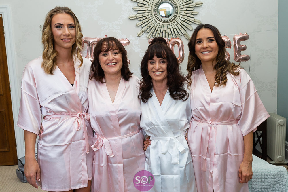 bride and bridesmaids at the iliffe, coventry