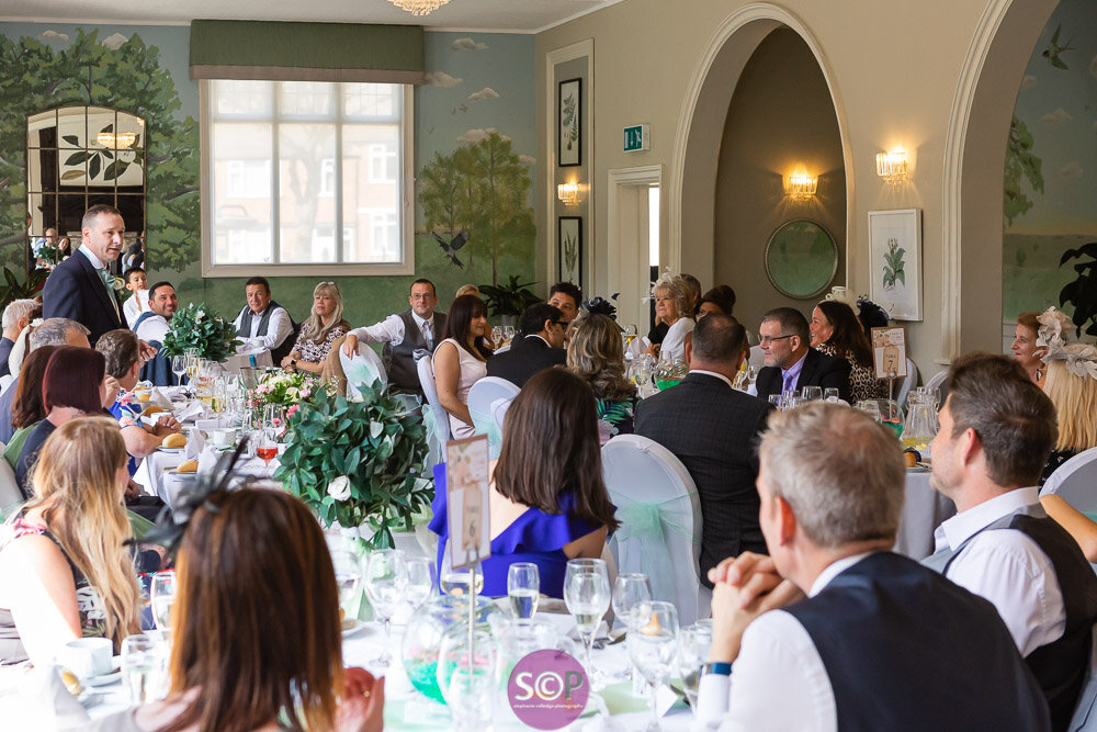 the wedding breakfast at the iliffe coventry