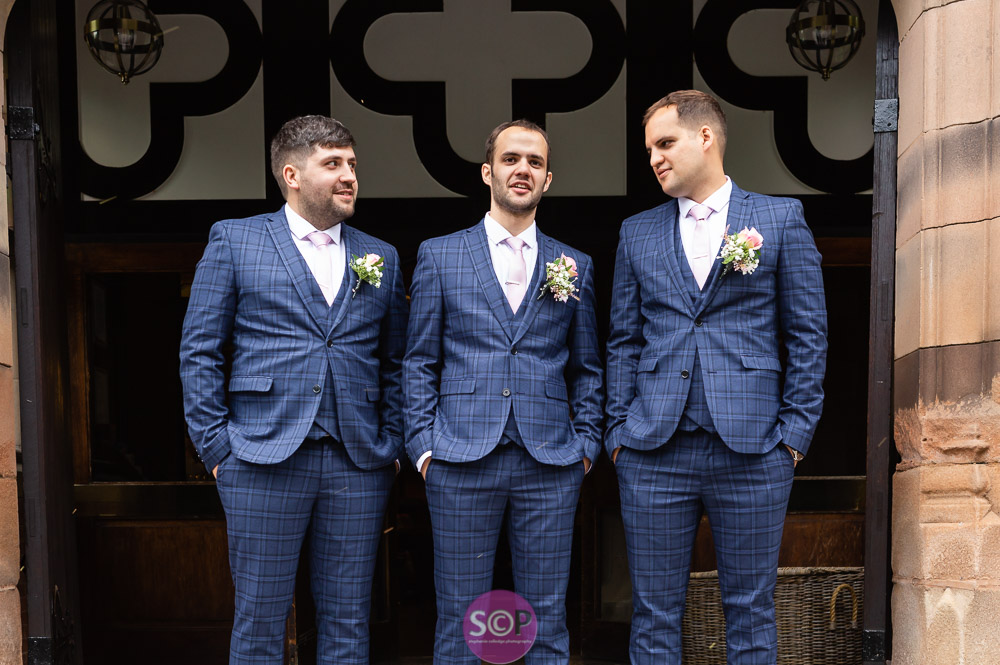 the groom and best men at the iliffe in Coventry