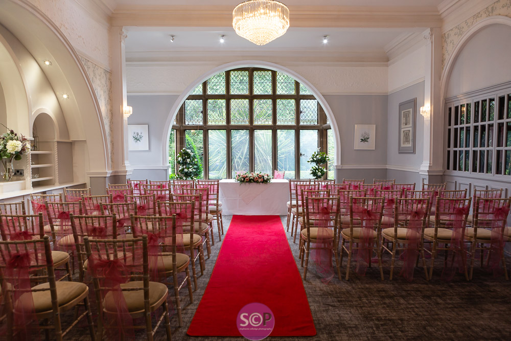 ceremony room ready at the iliffe in coventry