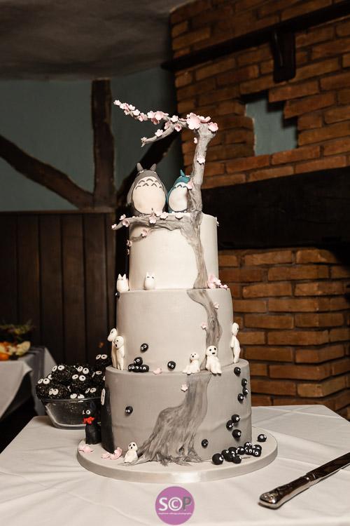 studio ghibil inspired cake full height