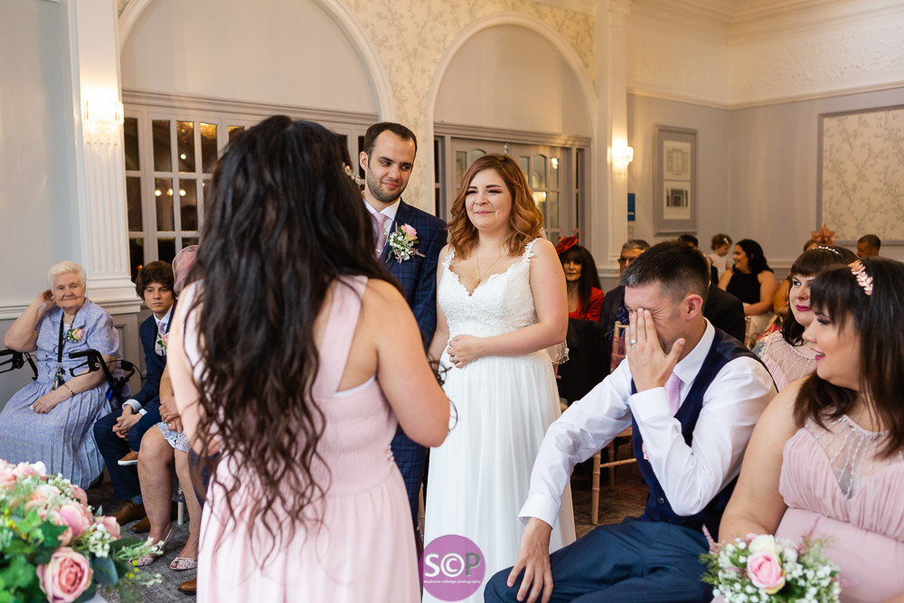 wedding service reactions to reading