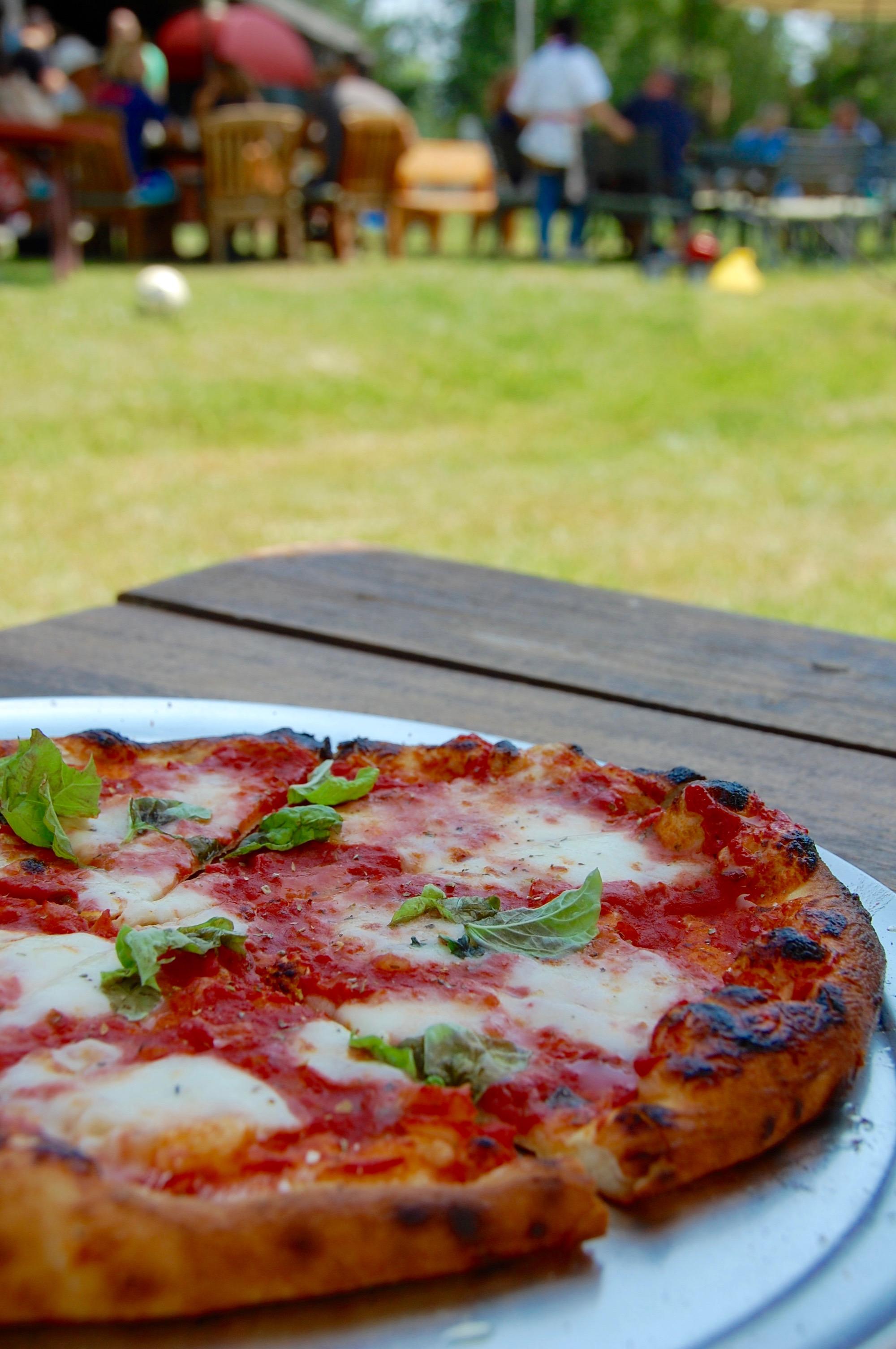 Greene Farms pizza al fresco