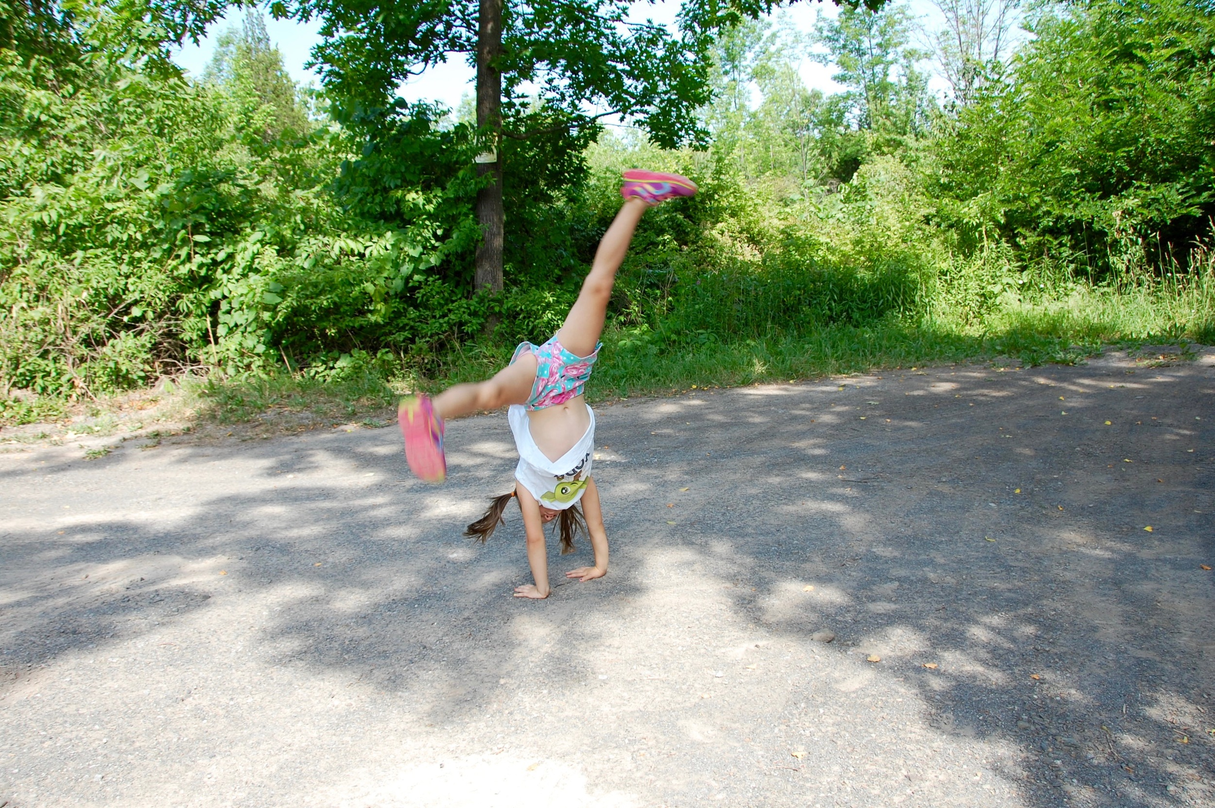 And this is Dorian who loves to do cartwheels in the Catskills. And also everywhere she goes.