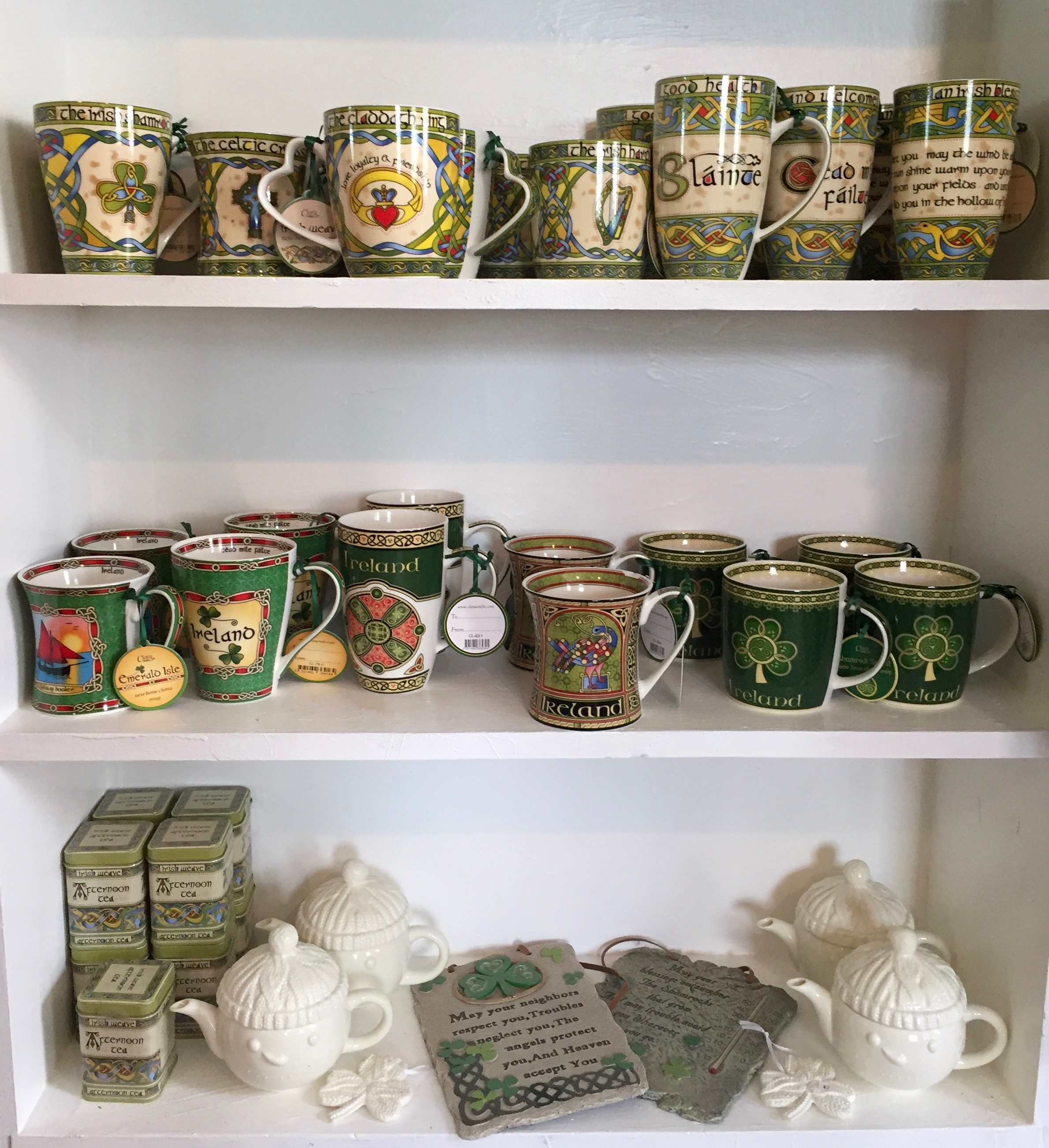 Mugs, teacups and Irish gifts at the Irish Tea Shop in East Durham, NY | BrooklynDoubleWide.com