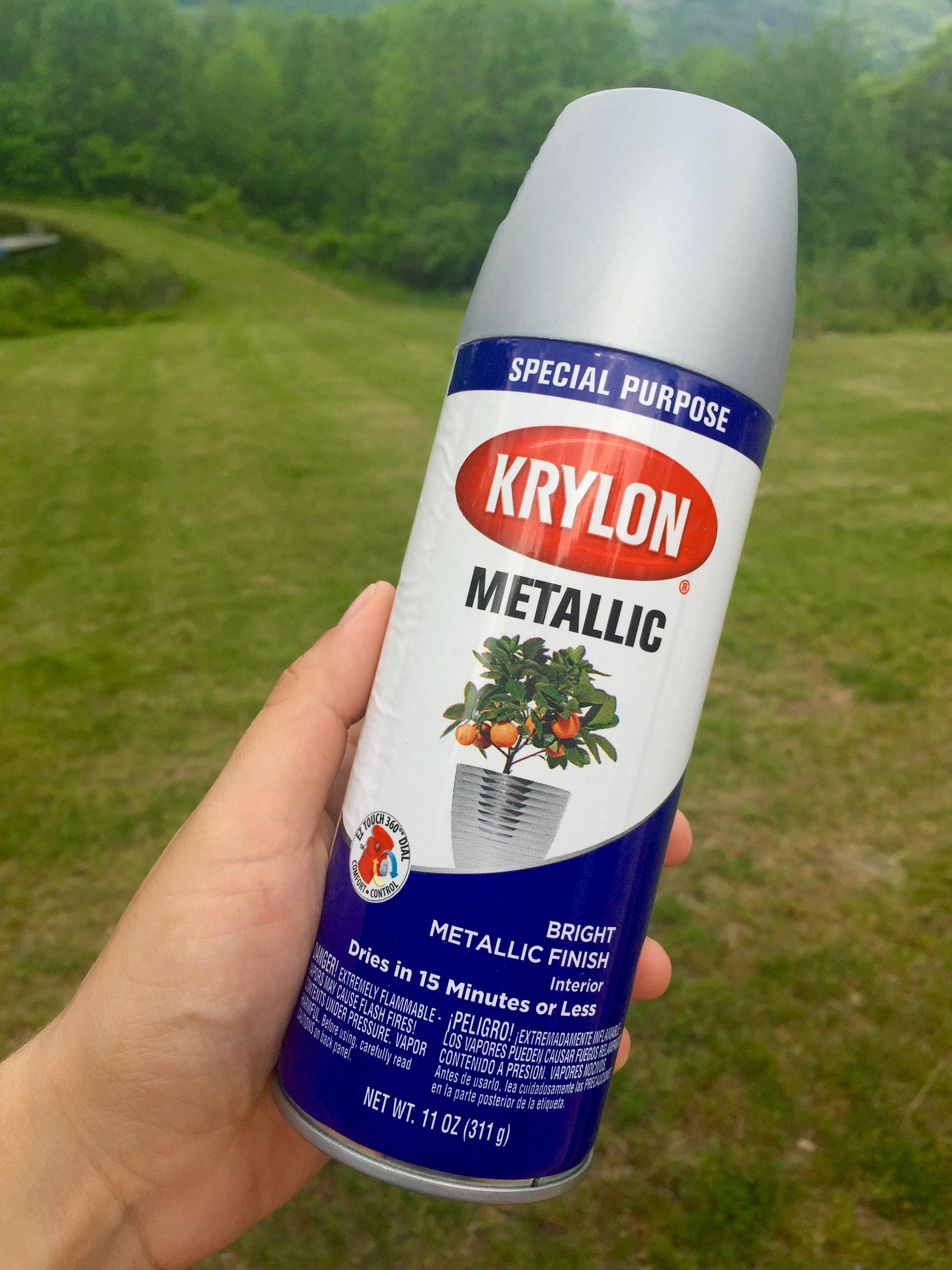 Krylon Metallic spray paint