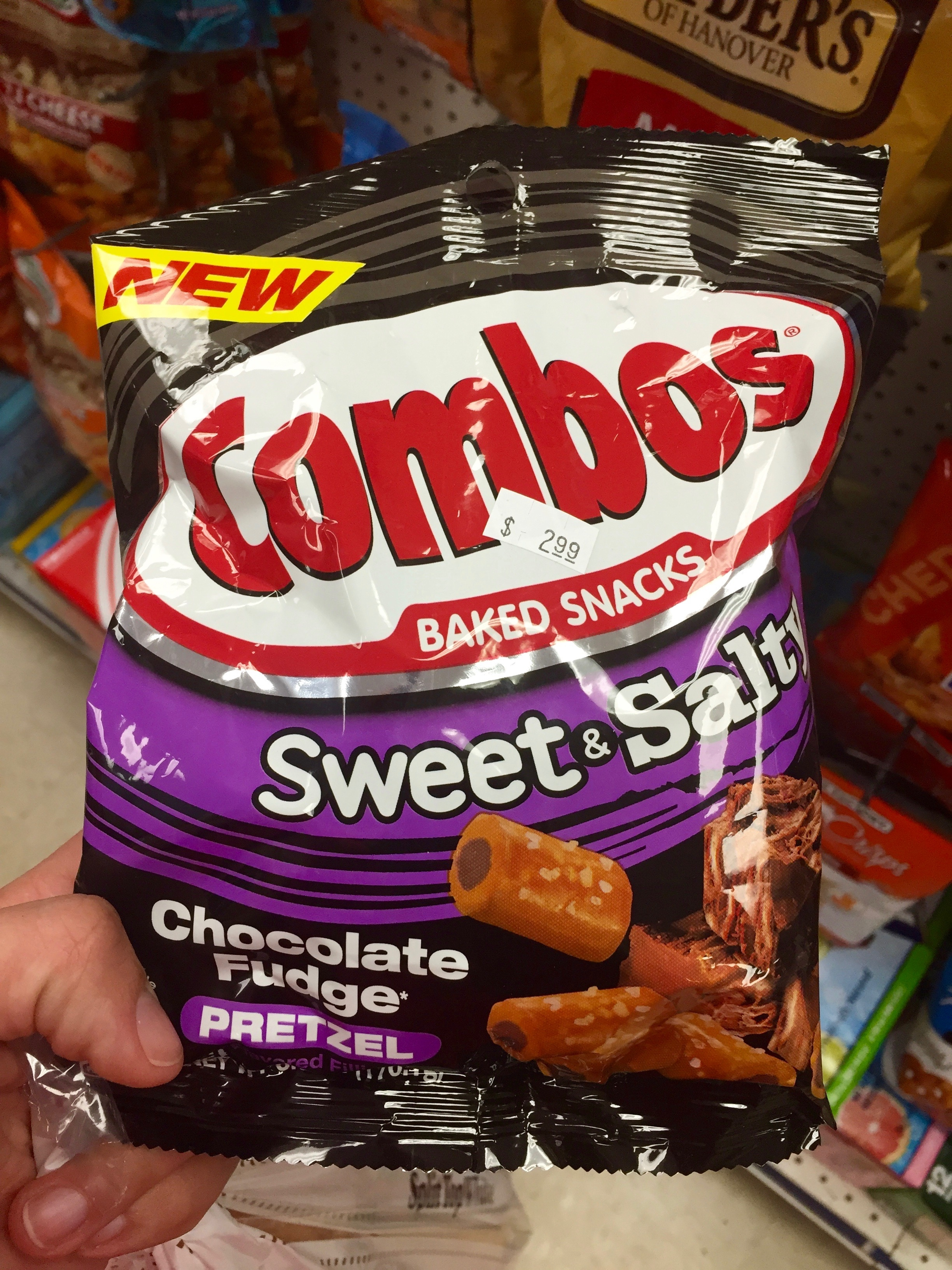 Combos Sweet and Salty Chocolate Fudge Pretzel