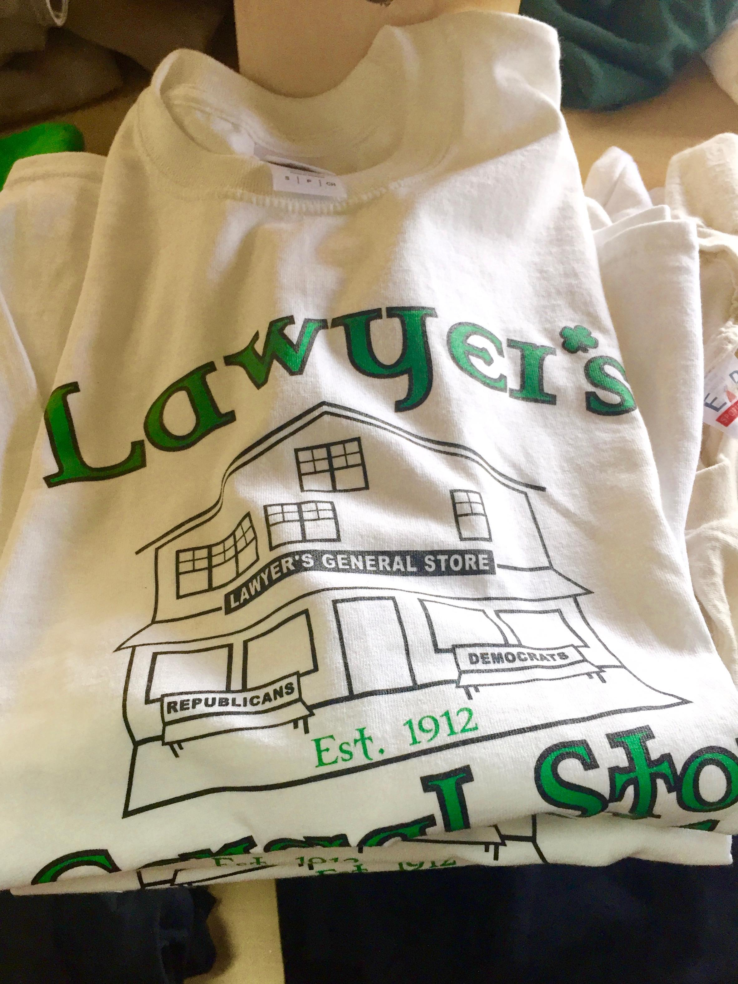 lawyer general store tshirt