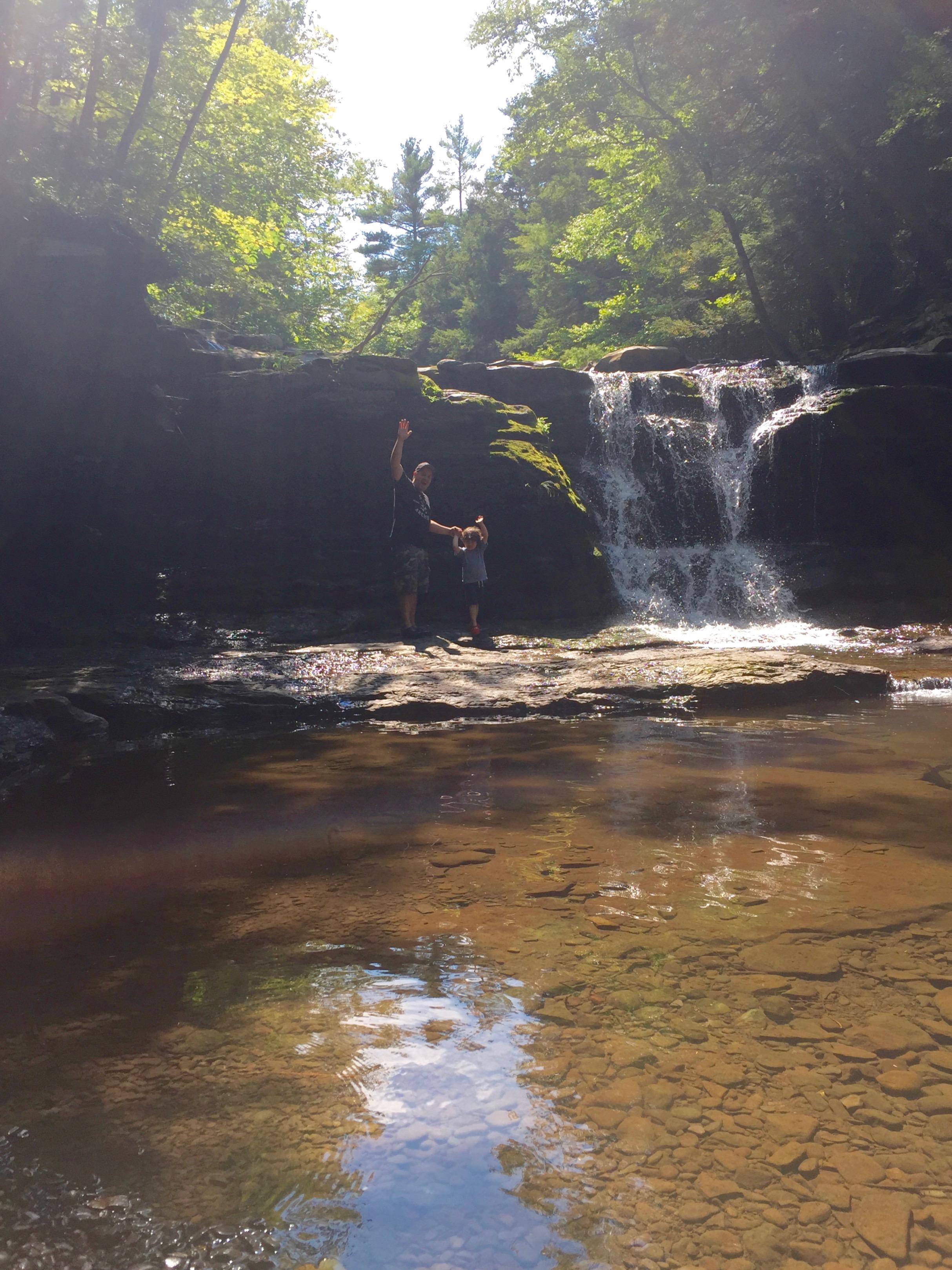 The waterfall behind  Gavin's Irish Country Inn