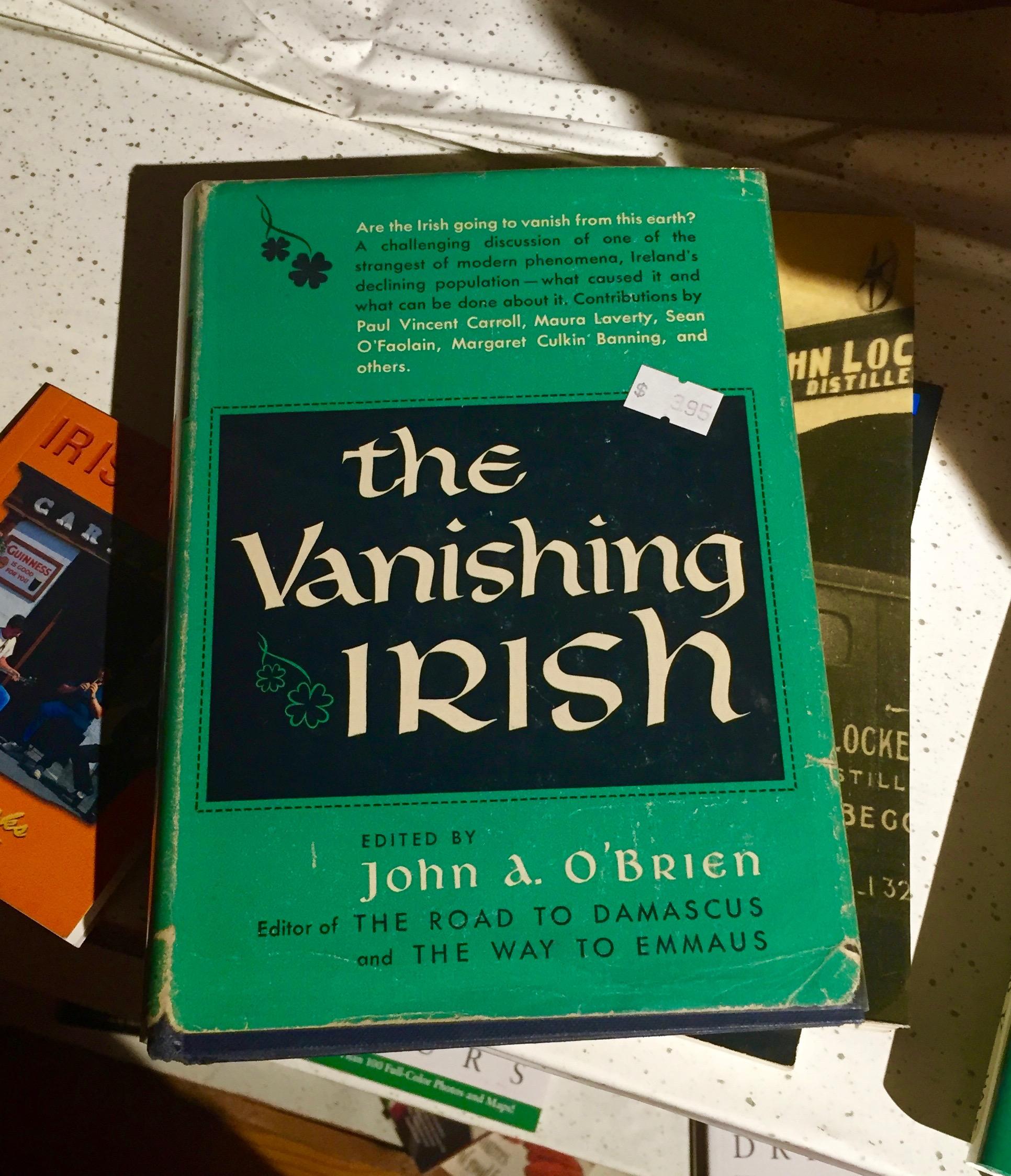 A used book at  Guaranteed Irish  in East Durham.