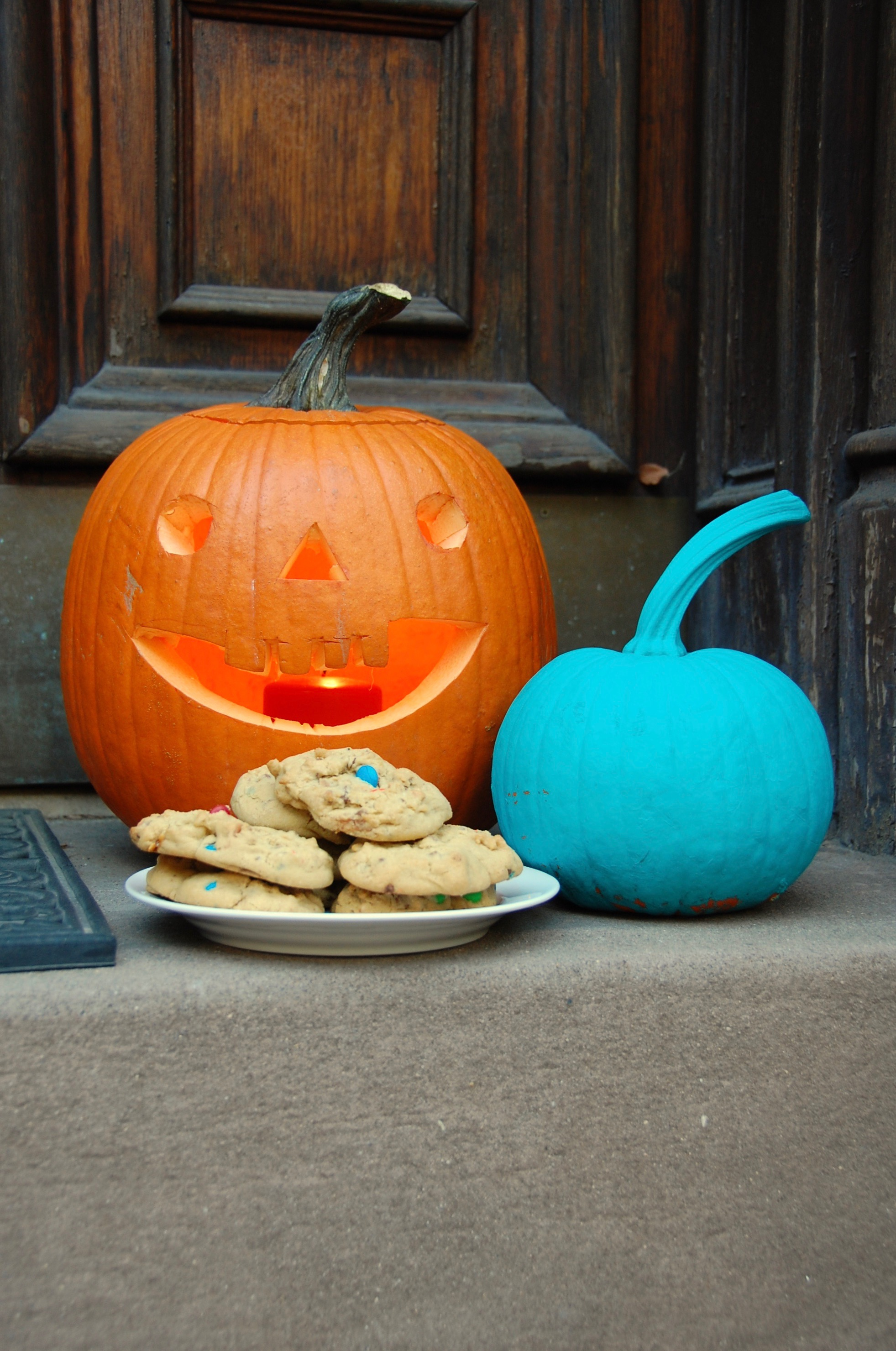 Halloween Candy Cookies and pumpkins