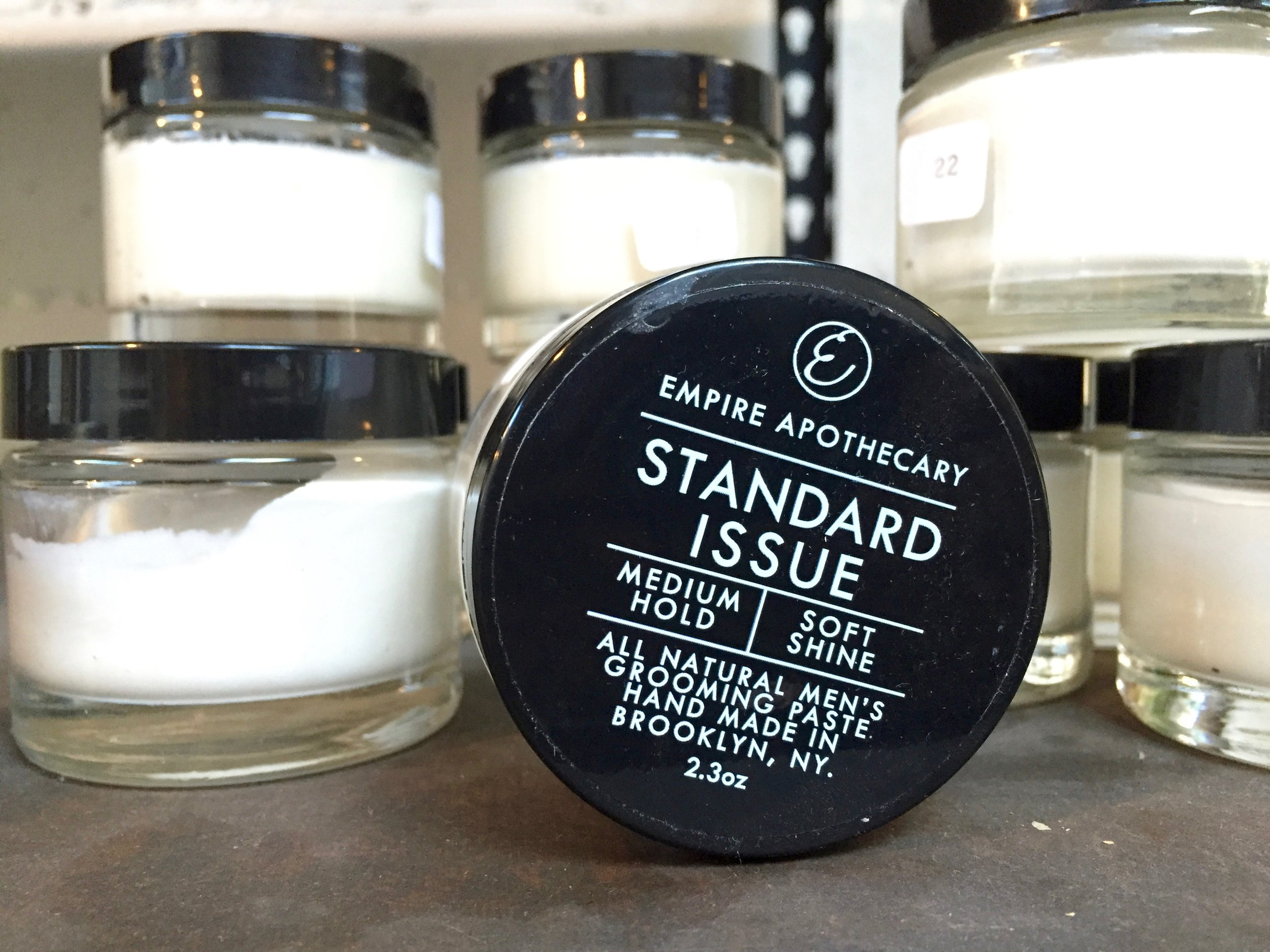 Empire Apothecary's Standard Issue  made-in-Brooklyn hair paste makes a fine stocking stuffer for a well-groomed outdoorsman.