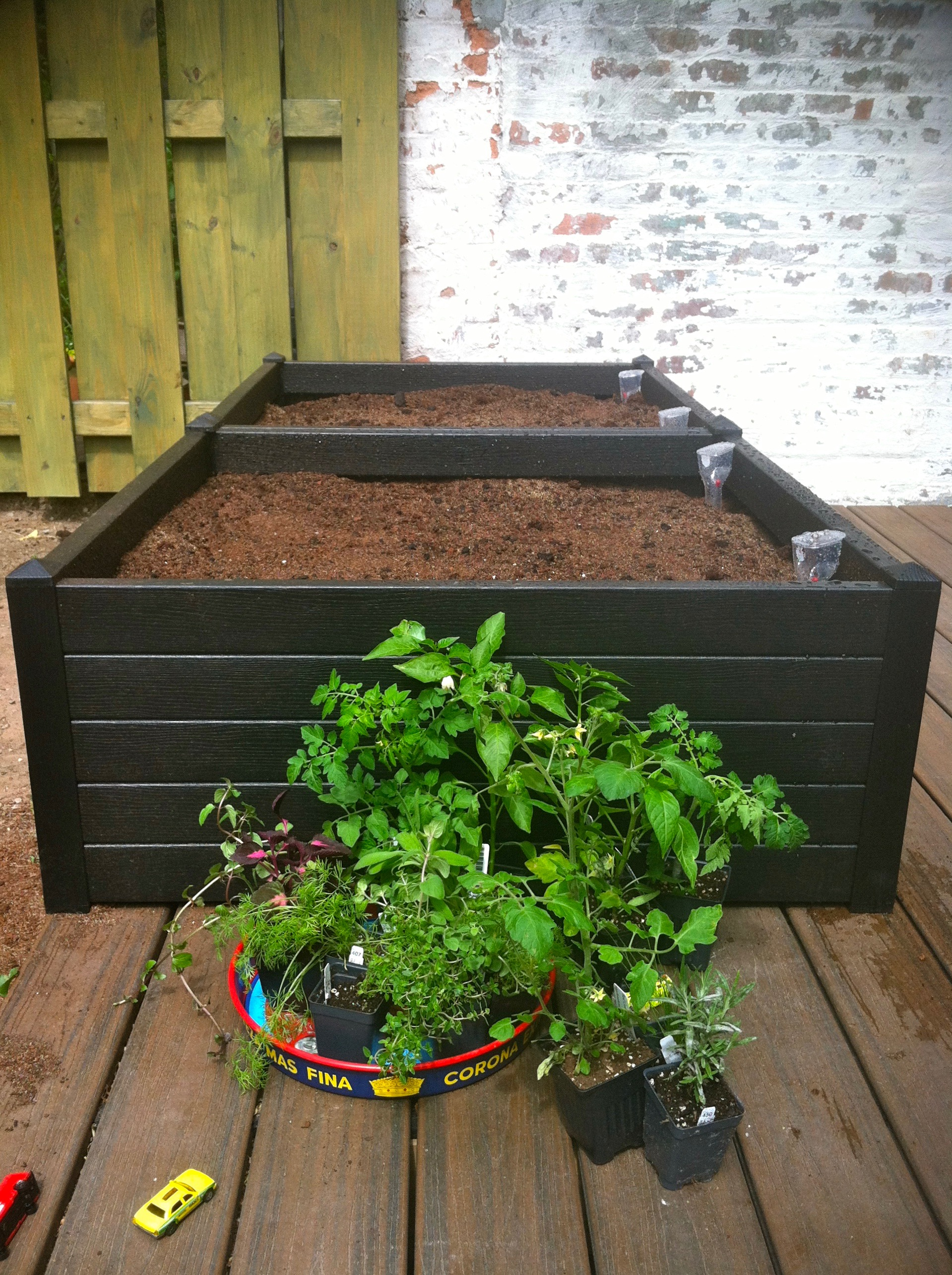 Terrazza Raised Beds  from Gardener's Supply, ready for planting.