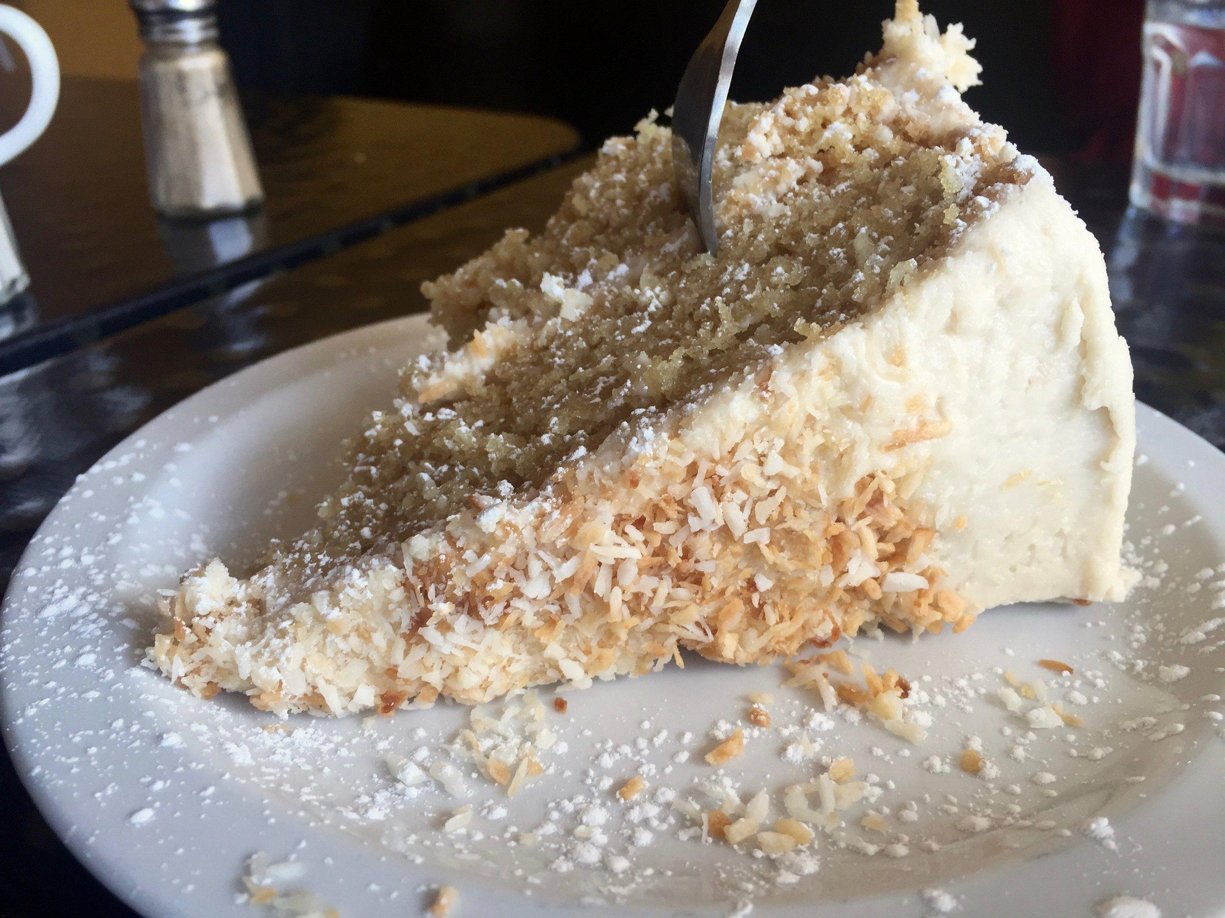 Vegan Coconut Cake from the Rosendale Cafe
