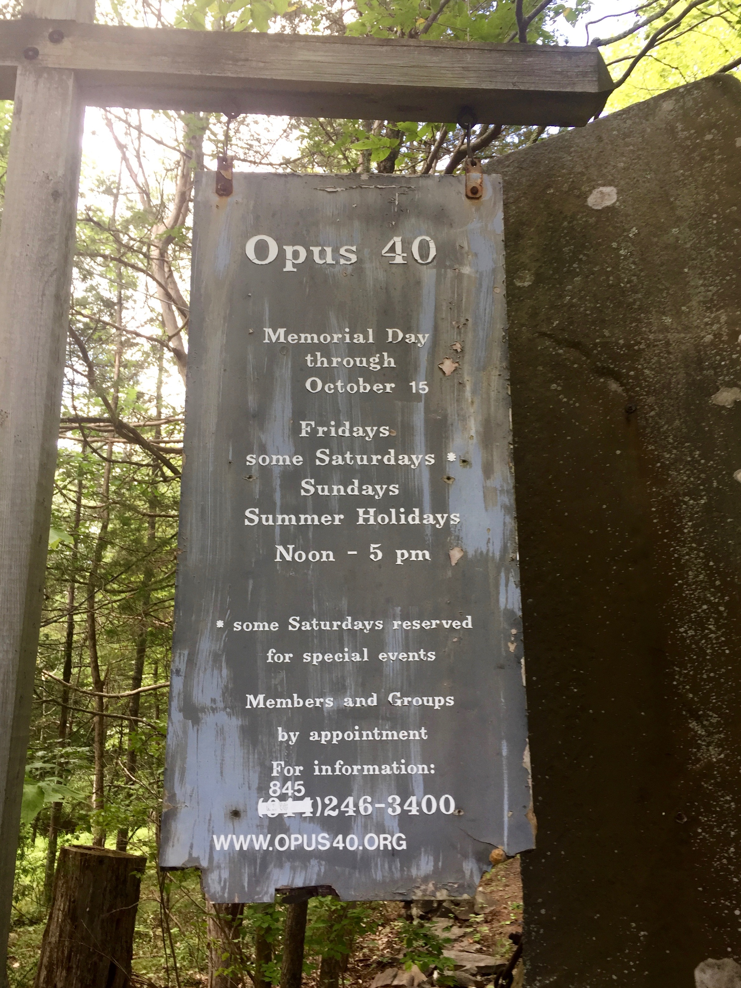 opus 40 visitor hours