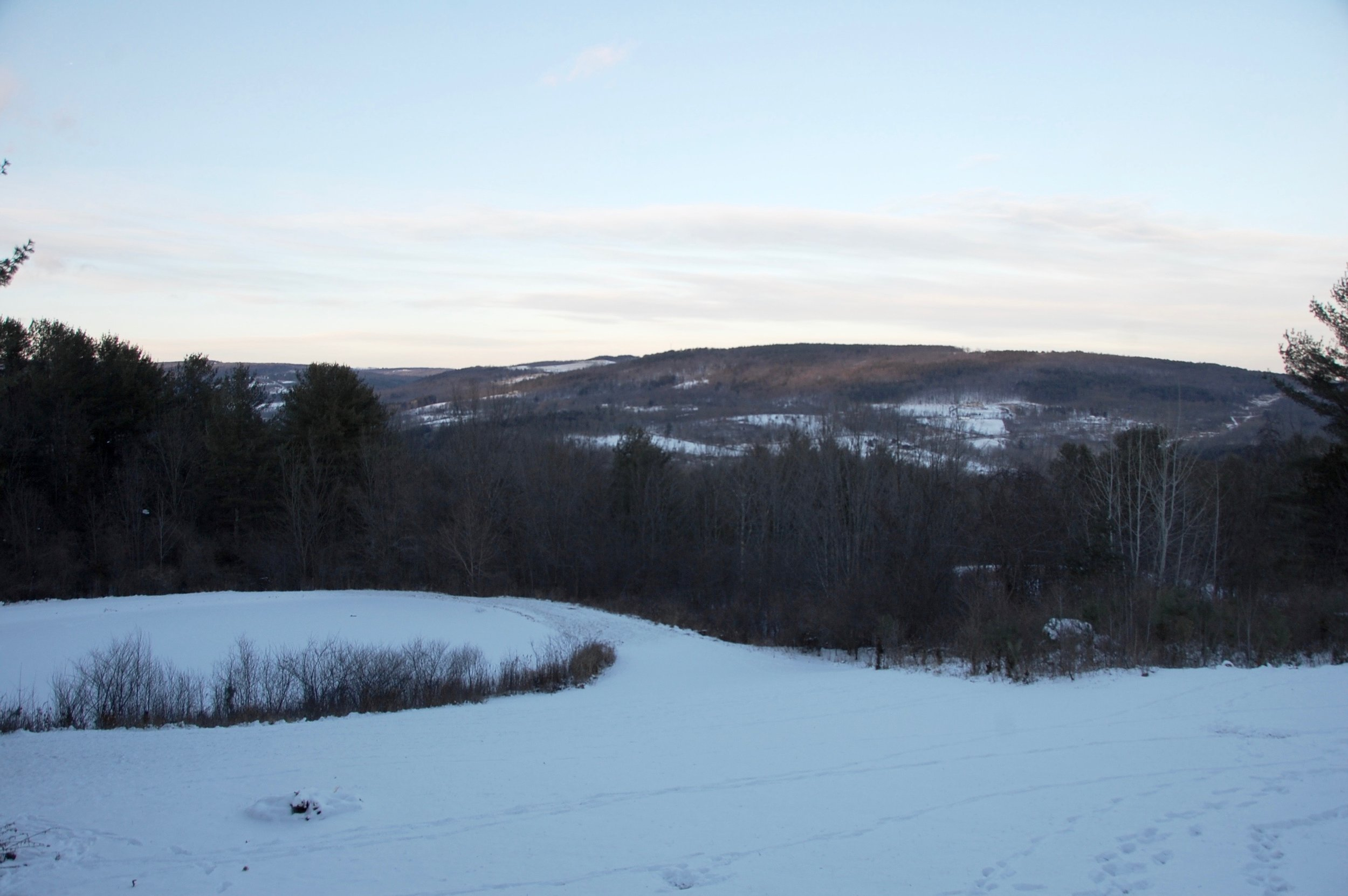 Catskill Mountains in the snow