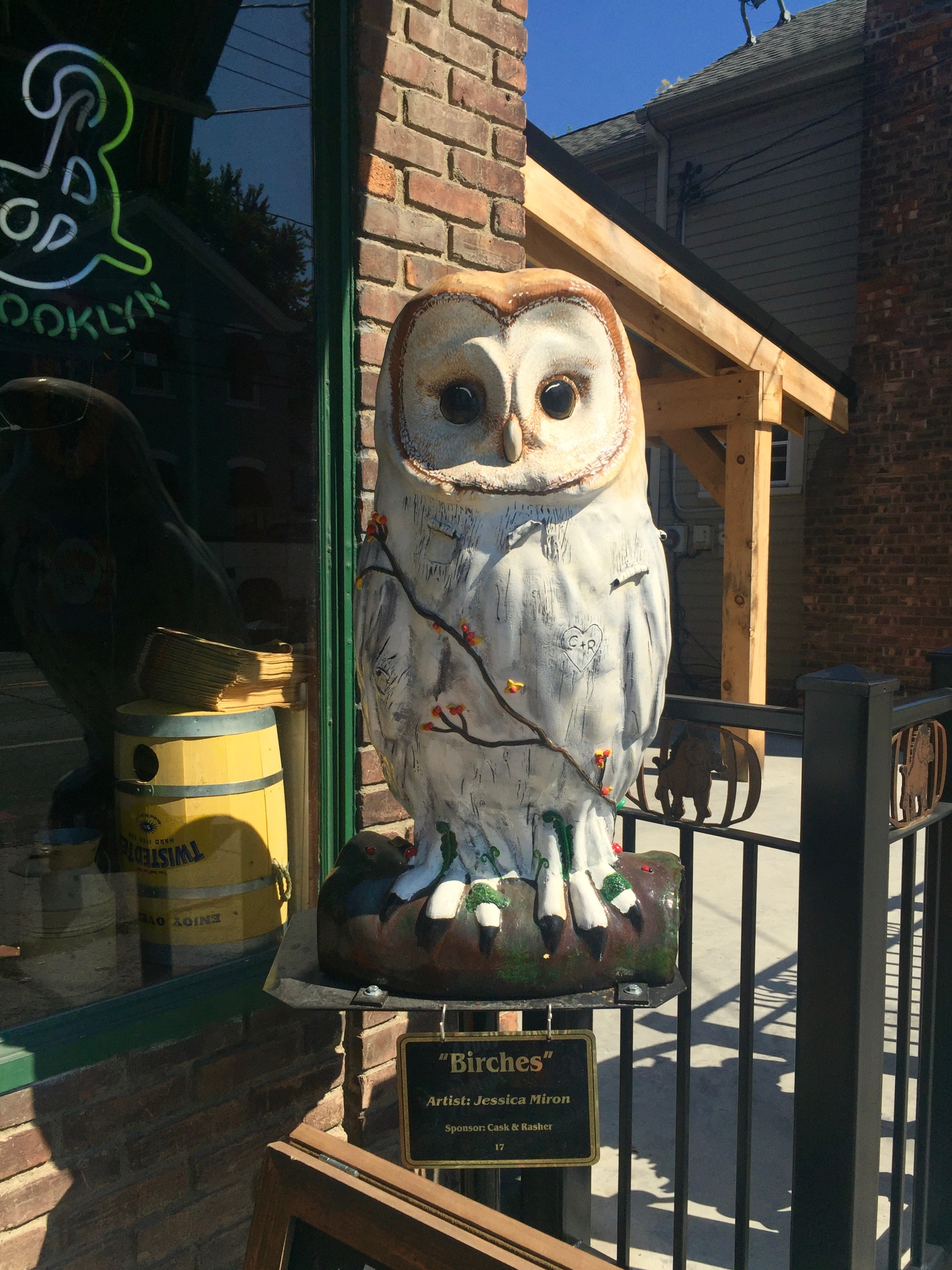 coxsackie owl at cask and rasher