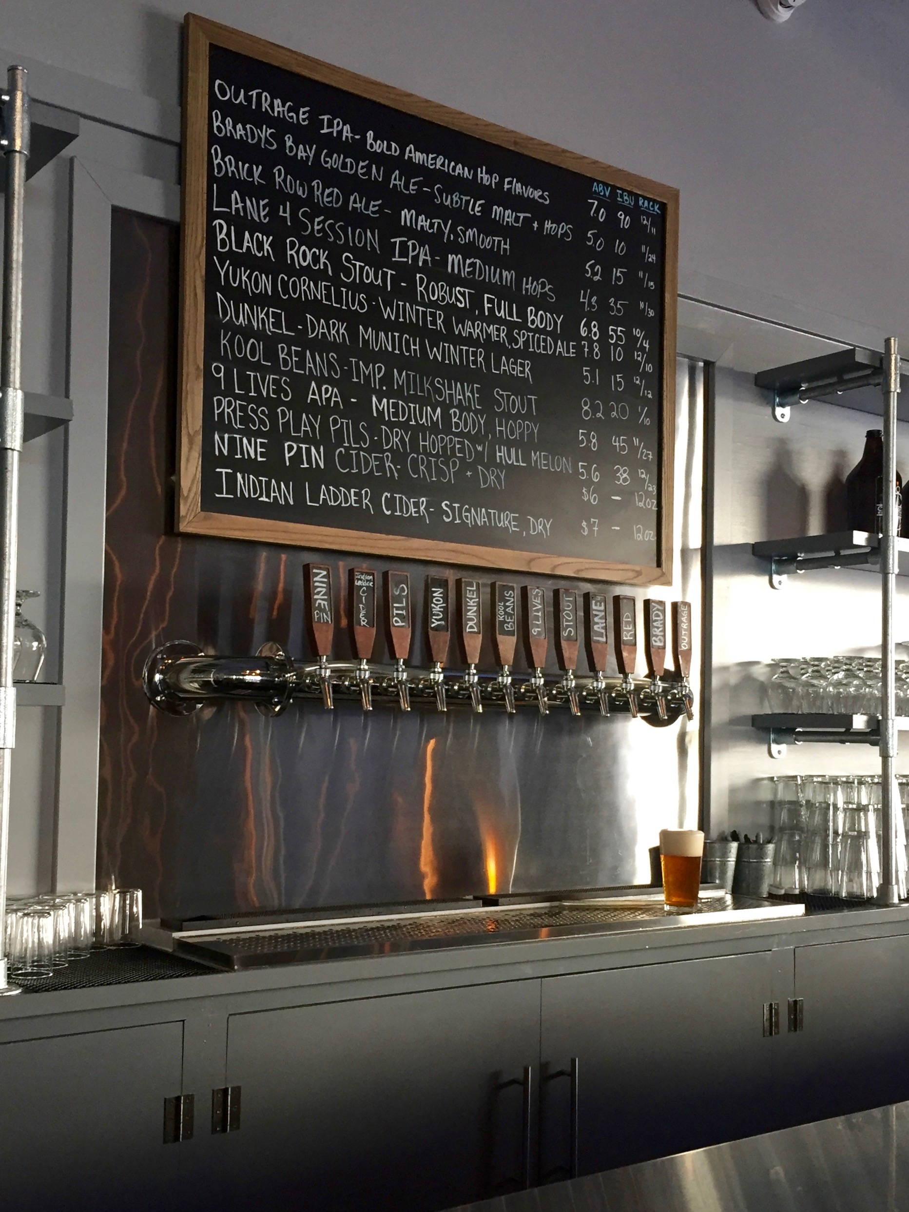 Crossroads Brewing catskill beer menu