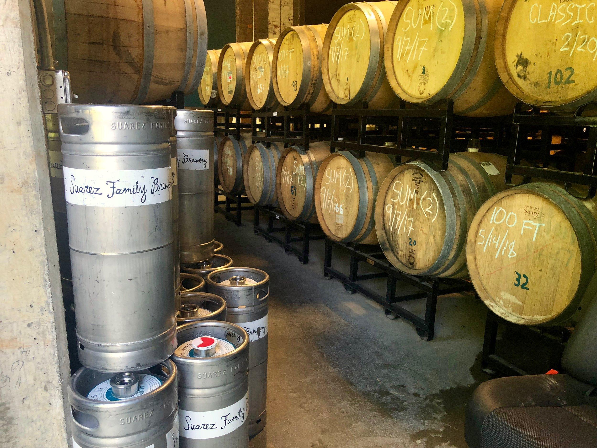 suarez family beer barrels