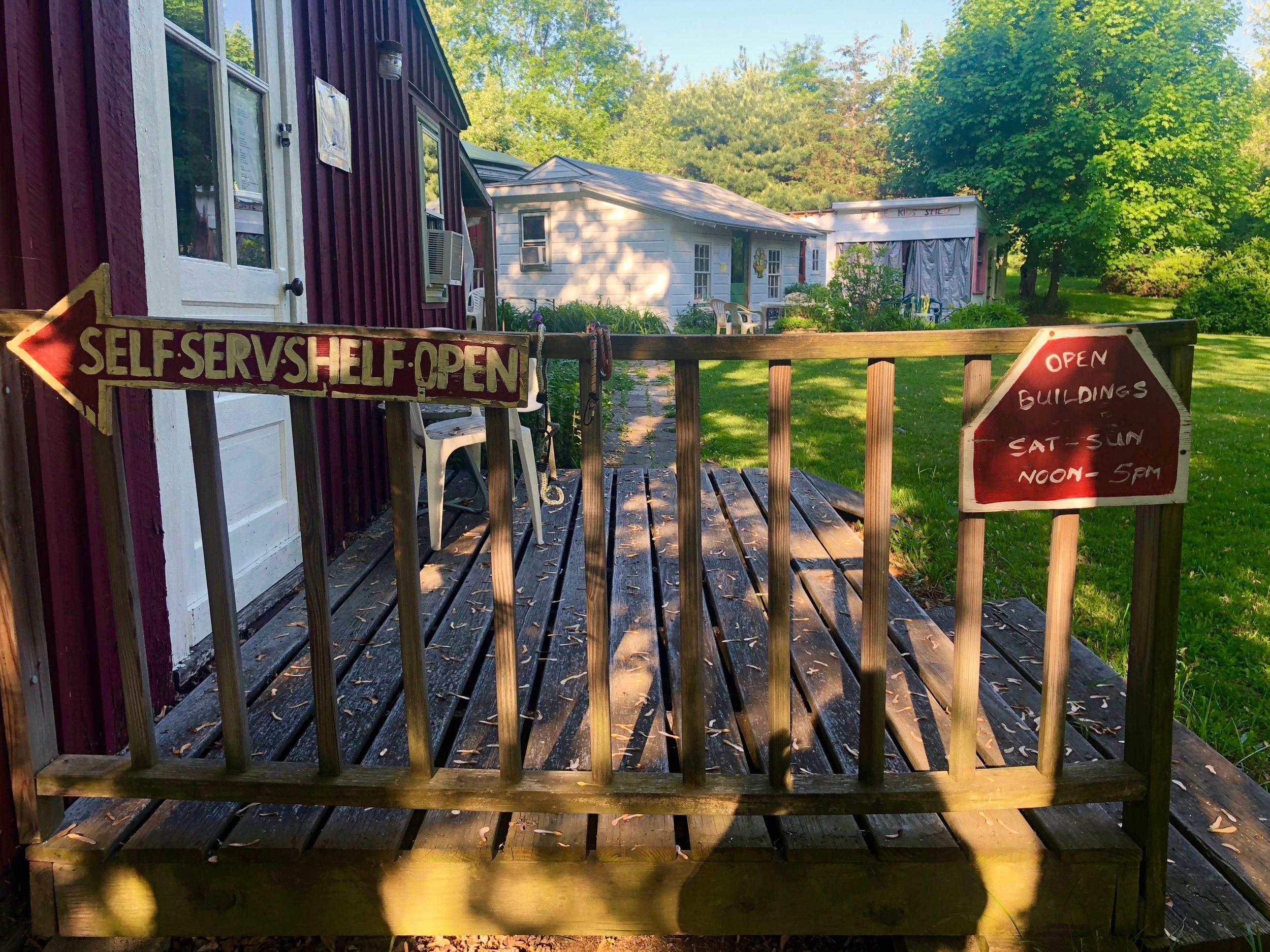 Self-serve book shop near Hudson