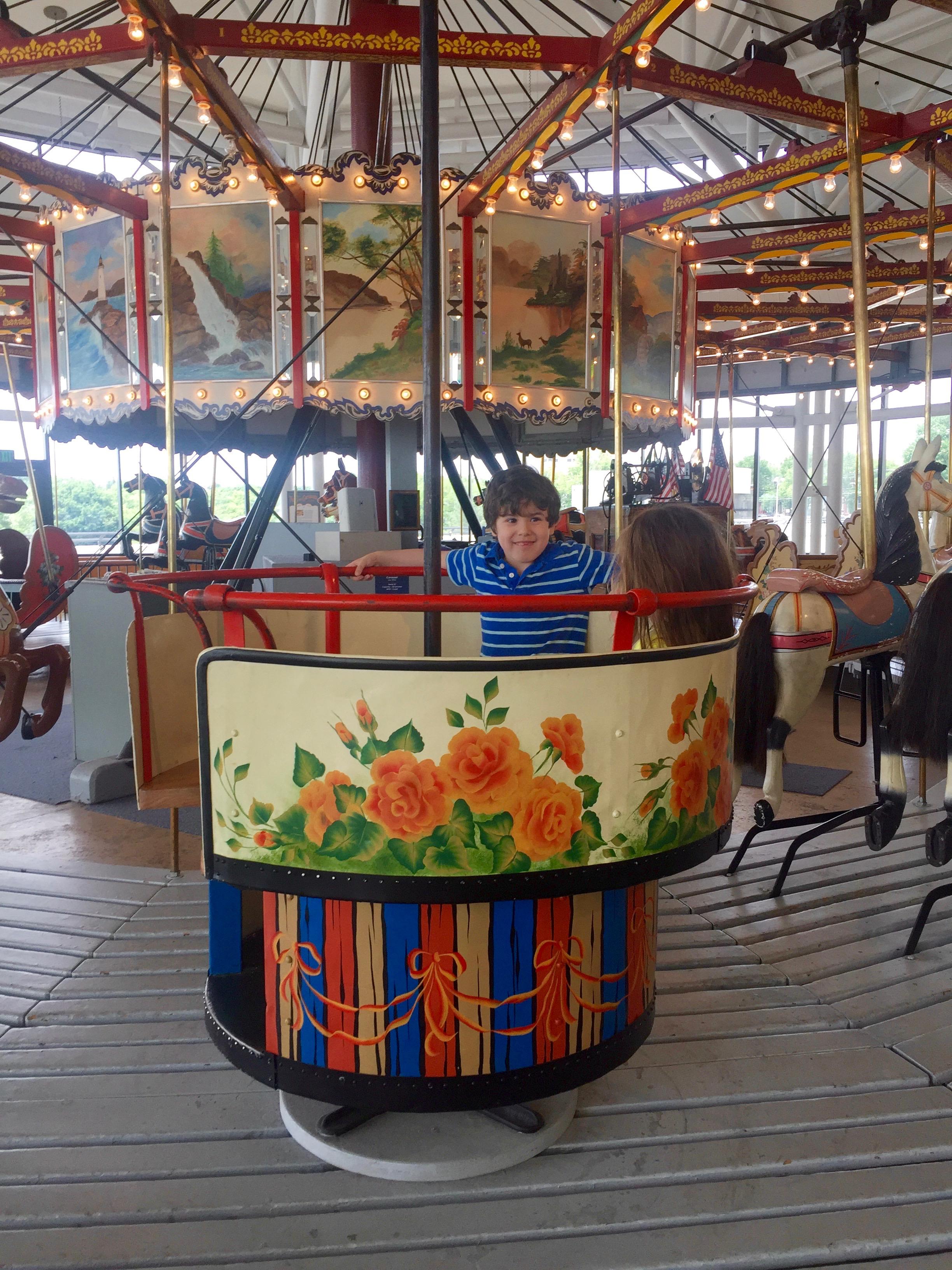 Teacup on vintage carousel