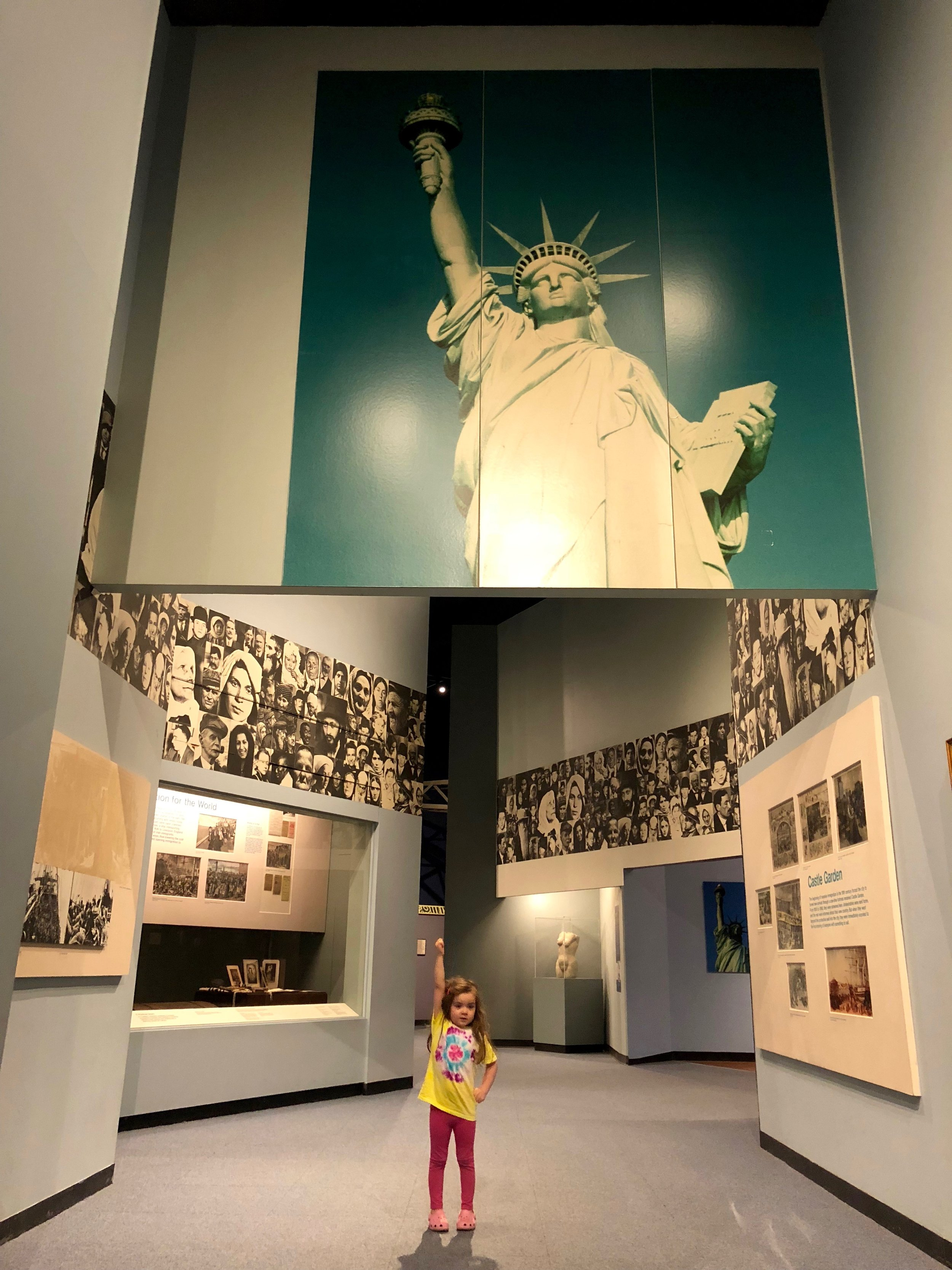 Ellis Island exhibit at the New York State Museum