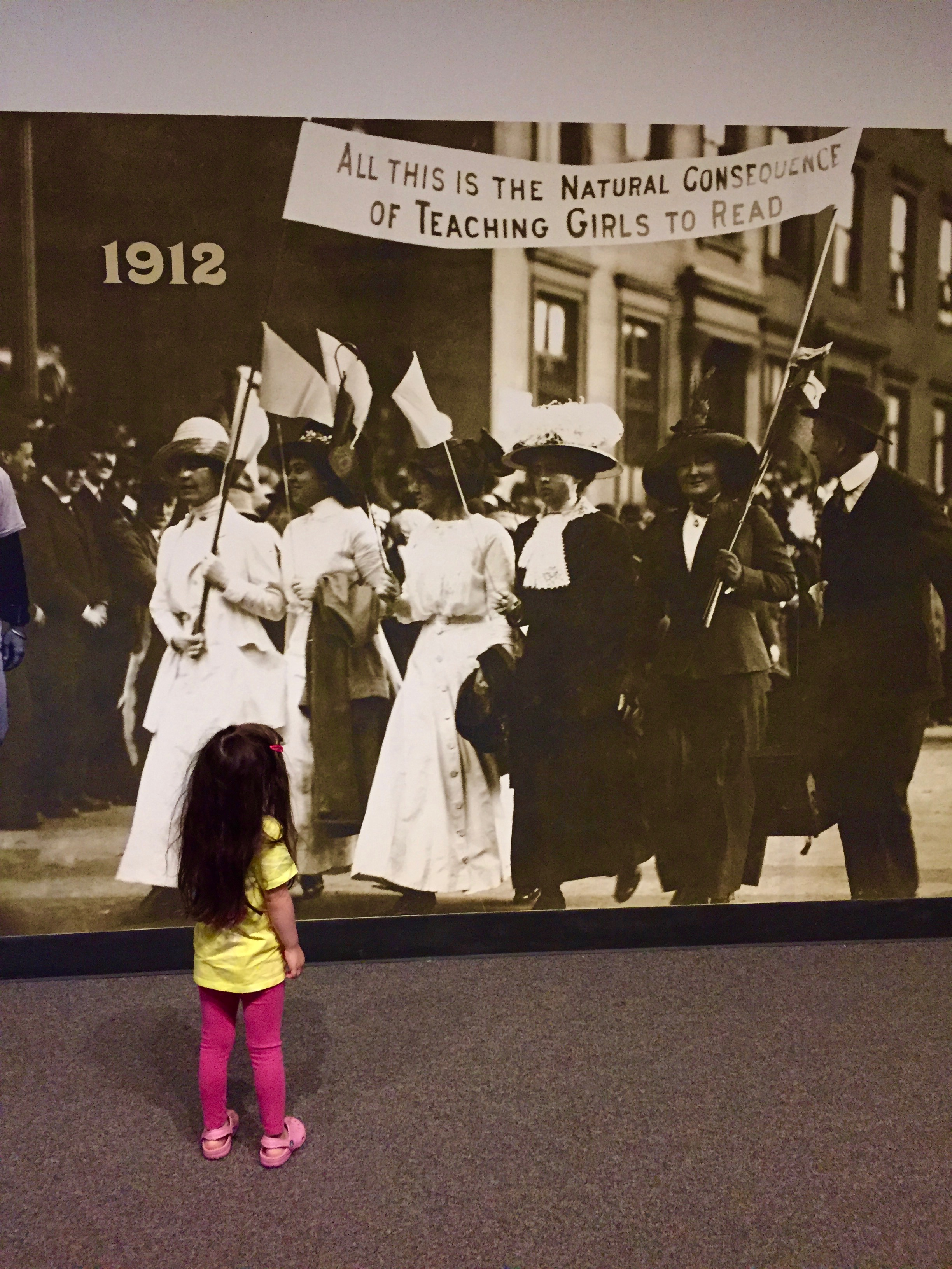 Women's suffrage exhibit in Albany