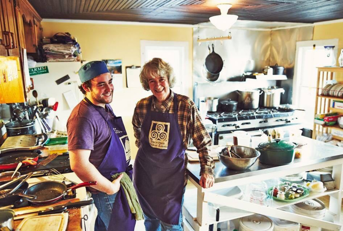 Rob Handel and Carol Clement at Heather Ridge Farm Bee's Knees Cafe