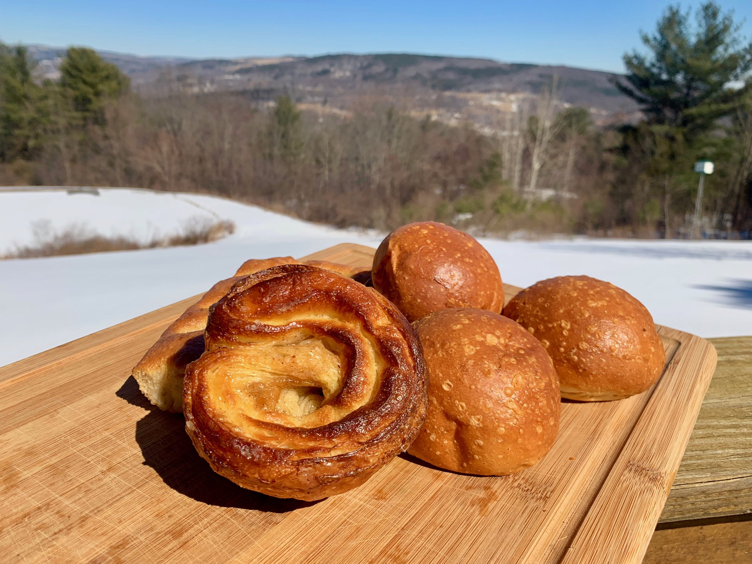 Cinnamon bun and milk buns from See and Be Kitchen, Cairo, Greene County, NY