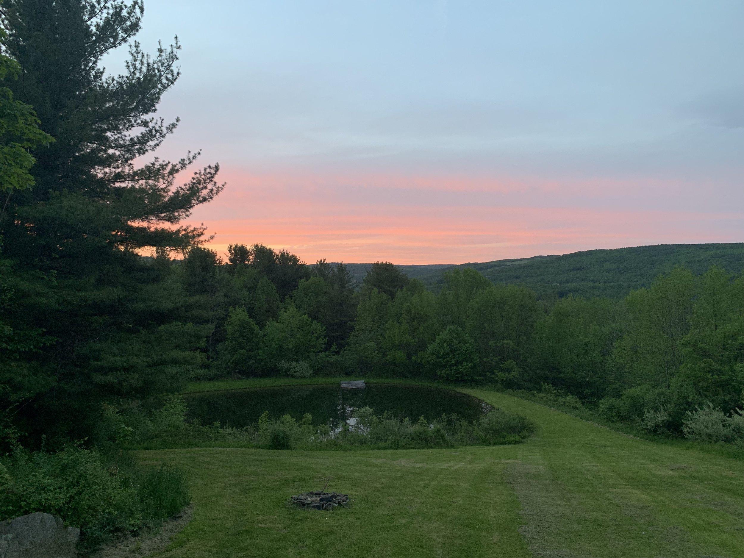 Catskills sunset