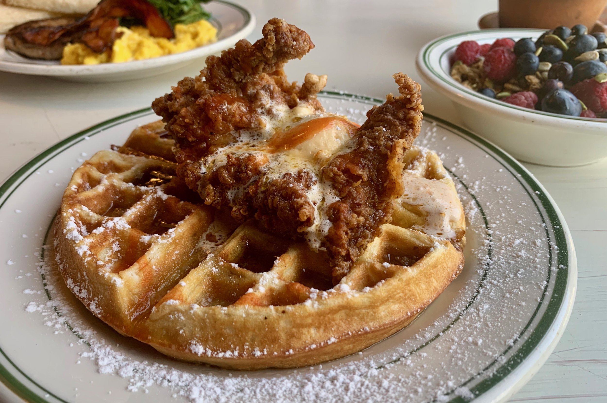 Best Catskills brunch: Fried chicken and waffles at Glen Falls House