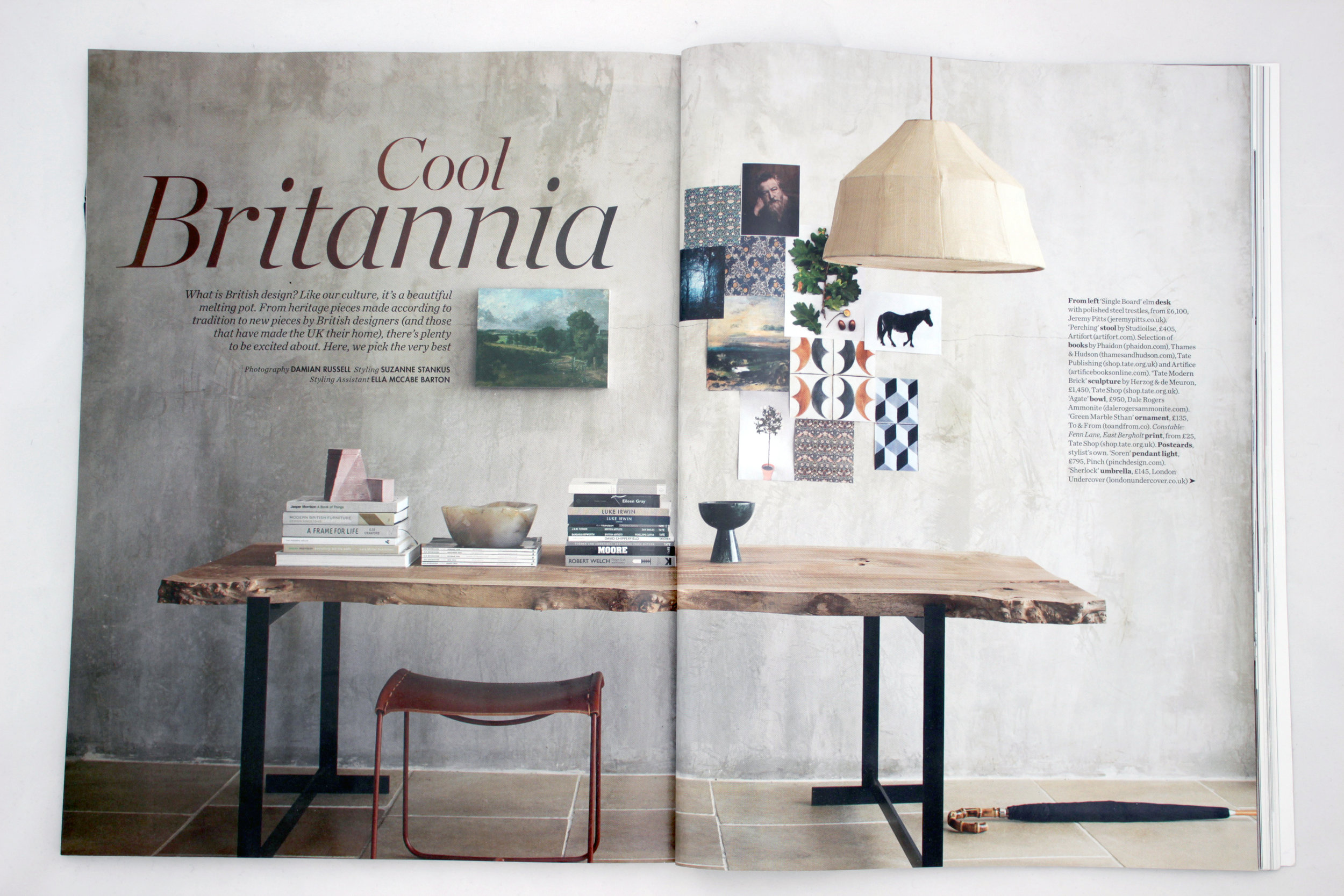 Elle Decoration October 2016 - Cool Britannia - featuring:   Large Green Marble Sthan