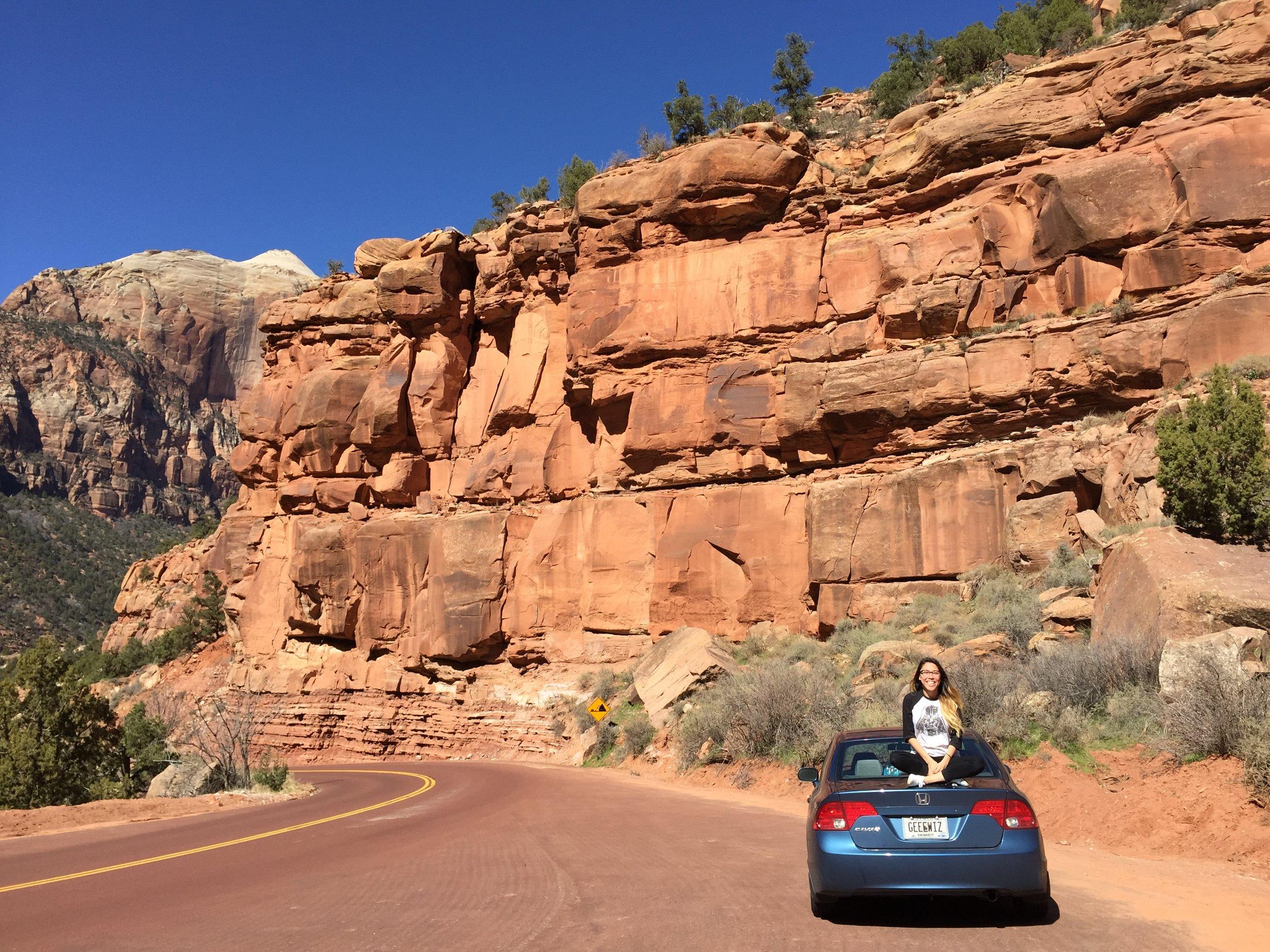 Zion National Park- en route to California