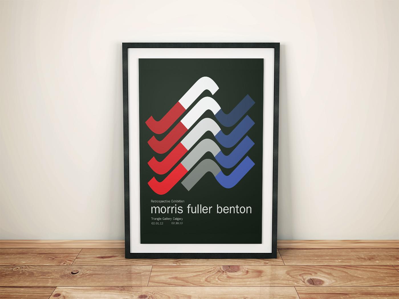 Retrospective event poster: Morris Fuller Benton School Project