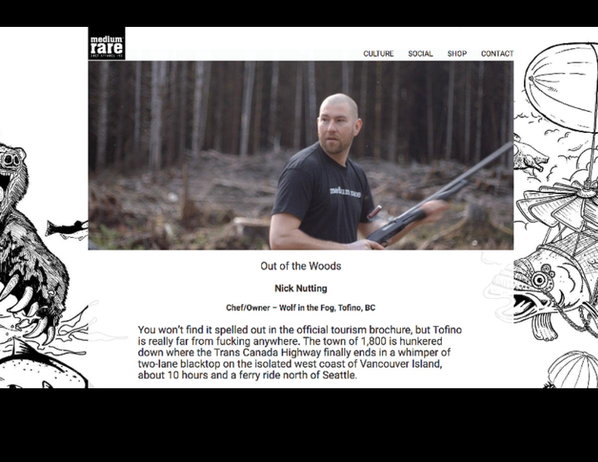 Screen Shot of Medium Rare Blog: Introduction to Nick Nutting