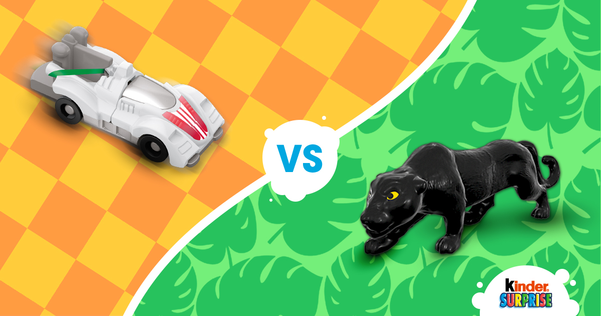 Copy: Who do you think is faster? A racecar or a Jaguar?