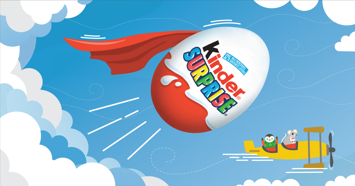 Copy: See their super imagination soar with KINDER® SURPRISE®!