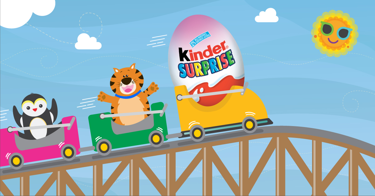Copy: Like this post if you'd ride a rollercoaster with a KINDER® SURPRISE®!