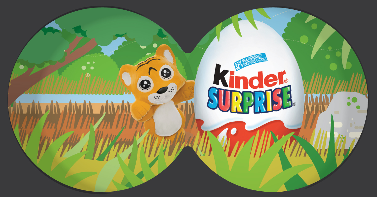Copy: Keep an eye out for fun and KINDER® SURPRISE®!