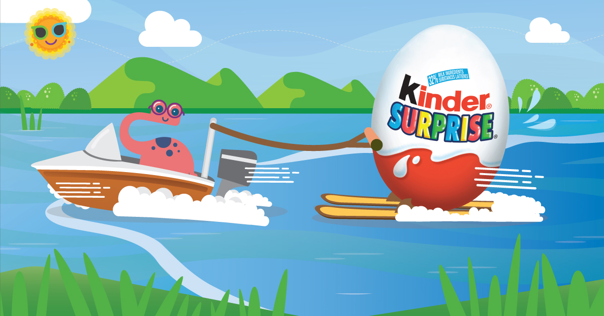Copy: Sit back and enjoy the ride with KINDER® SURPRISE®!