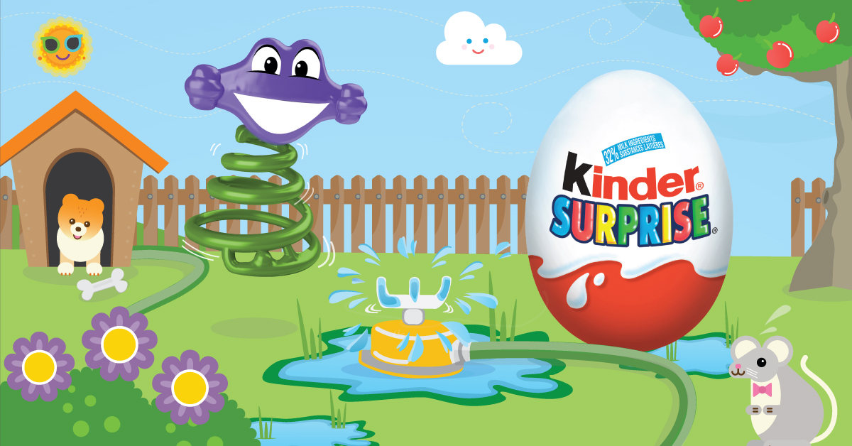 Copy: Sprinkle some excitement into their day with KINDER® SURPRISE®