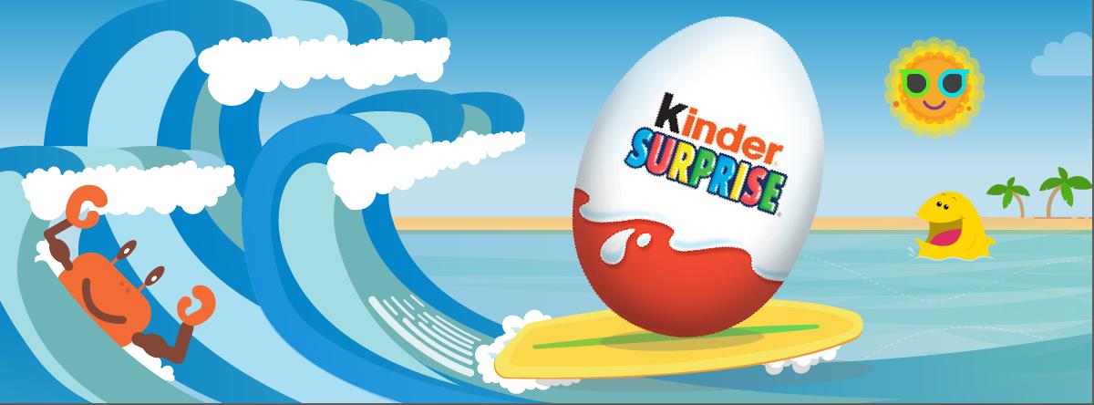 Kinder Surprise, Facebook Like Ad 1,200 x 444
